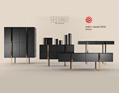 Grid - Furniture & Decor Set on Behance Condo Living Room, Wood Furniture Living Room, Small Furniture, Cabinet Furniture, Fine Furniture, Luxury Furniture, Furniture Decor, Furniture Design, Italian Furniture