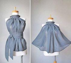 Le top demi-cercle - skirt refashion?
