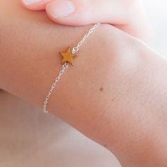Gold Star Sterling Silver Bracelet - bracelets & bangles