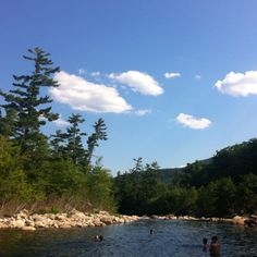 Swiming at Lower Falls: White Mountains, New Hampshire on the Kancamagus Highway