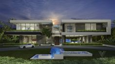 Exceptional Architecture Concepts From Vantage Design Group Futuristic Architecture, Facade Architecture, Classical Architecture, Landscape Architecture, Facade Design, Exterior Design, Modern Villa Design, House Front Design, Modern Mansion