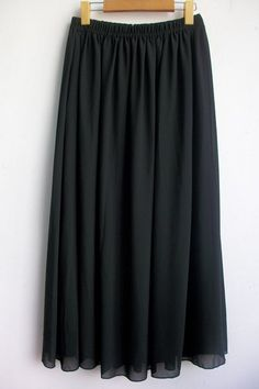 da370cb55a Stylish Chiffon Solid Color Plus Size Maxi Skirt For Women Plus Size Long  Skirts