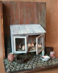 Rabbit Hutch…wish I had… I would need rabbits to go in it though. 🙁 Rabbit Hutch…wish I had… I would need rabbits to go in it though. Miniature Rabbits, Miniature Dolls, Miniature Gardens, Miniature Houses, Miniature Furniture, Dollhouse Furniture, Rabbit Hutches, Tiny World, Fairy Houses