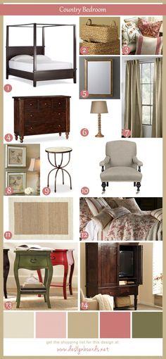 Country Bedroom 3 | Design Boards