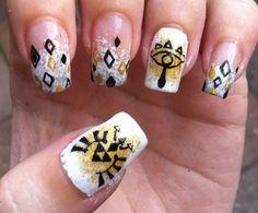 Zelda nails art , Triforce, sheikahs symbols +++++ http/