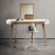 """The Stylo Makeup Table by Says Who is in fact a multifunctional table for """"the modern woman"""", as the designers say. With a simple look and yet plenty of tasks that can resolve, this table will fit perfectly in your bedroom and it won't occupy a lot of space."""