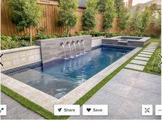 Small Inground Pool, Small Backyard Pools, Indoor Pools, Pool Decks, Swimming Pool Landscaping, Swimming Pool Designs, Small Swimming Pools, Landscaping Around Pool, Pool Pavers
