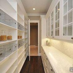 Walk In pantry Ideas, Transitional, kitchen . Walk In pantry Ideas, Transitional, kitchen More Wal Pantry Room, Pantry Storage, Walk In Pantry, Pantry Shelving, Ikea Pantry, Pantry Baskets, Walkin Pantry Ideas, Hidden Pantry, Built In Pantry