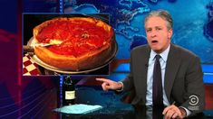"""Using New York's Freedom Tower's American height record as a launching pad, Jon Stewart catapulted into an epic rant against Chicago deep dish pizza on """"The Daily Show."""" """"Deep dish pizza is not. Jon Stewart Daily Show, Square Pizza, Greek Pizza, Chicago Style Pizza, New York Pizza, I Love Pizza, The Daily Show, Bread Bowls, Buenos Aires"""