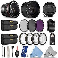 58MM Lens Set & Filter Kit for Canon EOS DSLR 750D 700D 650D 600D 1100D 100D
