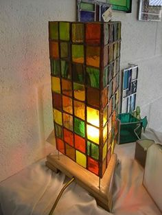 Stainglass tower #StainedGlassLamps