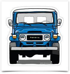 Image of Toyota LandCruiser stickers Toyota Land Cruiser, Fj Cruiser, Toyota Fj40, Toyota Trucks, Jeep Suv, Custom Hot Wheels, Off Road Adventure, 2016 Jeep, Ford Pickup Trucks