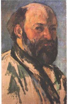 """Paul Cezanne, self-portrait.  """"A work of art which did not begin in emotion is not art."""""""