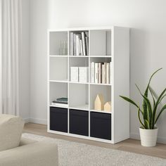 KALLAX Shelf unit IKEA Choose whether you want to place it vertically or horizontally to use it as a shelf or sideboard. Ikea Kallax Shelf Unit, Ikea Shelves, Ikea Shelving Unit, Wall Shelves, Kallax Insert, Ikea Canada, Cube Storage Unit, Storage Organizers, Storage Cubes
