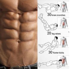 No-Equipment Ab Exercises - Body Sixpack Workout Plan Best Abs - Yeah We Train ! Gym Workout Tips, Abs Workout Routines, Fitness Workouts, Fun Workouts, At Home Workouts, Fitness Tips, Workout Plans, Street Workout, Sixpack Workout