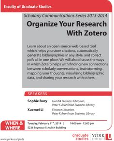 Grad Students workshop: Organize Your Research  With Zotero