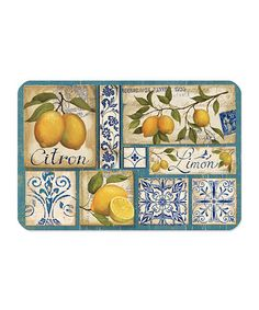 Take a look at this Yellow Zest 18'' x 12'' Glass Cutting Board by Cypress Home on #zulily today!