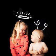 *kerstengel vs lievelingsdier*  Een gelukkige, originele & stoere kerstfoto! Ontwerp Brenda de Graaf // Foto Lavinia Spruitenburg