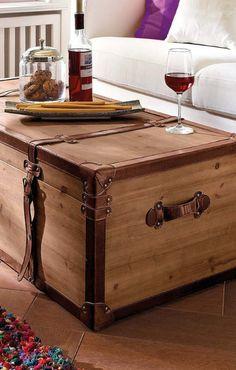 Home affaire Couchtisch »Truhe« Praktischer Couchtisch mit viel Stauraum #Wohnzimmer #Dekoration #Ideen Christoph Baum Stil Fabrik
