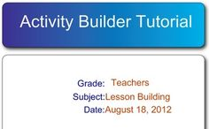 Activity Builder Tutorial for SMART Board - Carol Redmond - TeachersPayTeachers.com