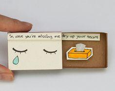 Cute I miss you Card Matchbox/ Gift box / Message box by shop3xu