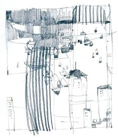 Love Drawing and Design? Finding A Career In Architecture - Drawing On Demand Landscape Drawings, Landscape Paintings, City Drawing, Drawing Art, Drawing Tips, Grafik Art, House Sketch, Black And White Painting, High Art