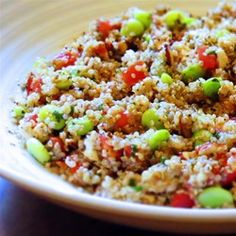 This Greek quinoa salad includes tomatoes, kalamata olives, and feta cheese creating a Mediterranean-inspired, gluten-free salad.