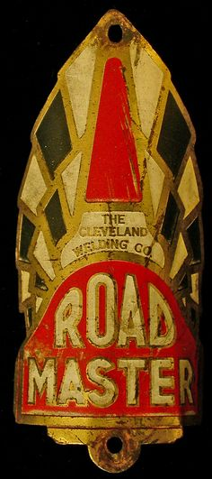 ROAD MASTER bicycle head badge.