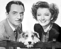 William Powell, Myrna Loy and the wonderful dog detective Asta