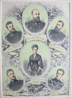 "The children of Tsar Alexander II of Russia:Tsar Alexander III,Grand Dukes Vladimir,Alexei,Sergei and Pavel Alexandrovichi, and Grand Duchess Maria Alexandrovna.  ""AL"""