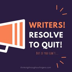 Writers should resol