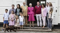 Danish royal family at their summer holiday Grasten Castle. July 15, 2016