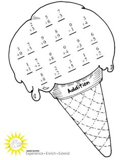 math worksheet : ice cream themed math this week s summer solutions activity  : Multiplication Division Addition Subtraction Worksheets