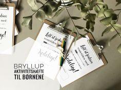 Bryllups planlægning - Aktivitetshæfte til børnene