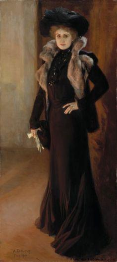 Albert Edelfelt (Finnish: 1854 –1905) |  Portrait of the Singer Aino Ackté (1901)