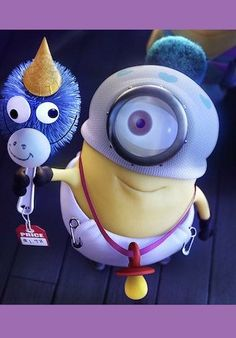 Despicable me when they created a little unicorn out of a toilet scrubber with a cone on the head and goggley eyes and a smile.