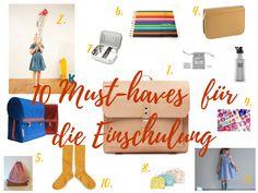 Top 10 Must-haves für die Einschulung. Dinge, die man wirklich braucht und Mama & Kids auch noch gute Laune machen, weil sie so hübsch sind!