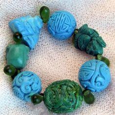 armband_01_004 Turquoise Bracelet, Jewelry, Semi Precious Beads, Handmade, Wristlets, Schmuck, Gifts, Jewlery, Jewerly