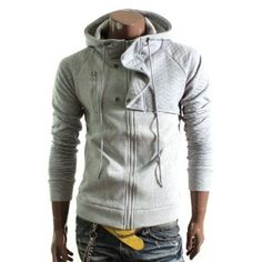 Doublju Mens Casual Quilt Hooded Jacket(HJ23) $39.99
