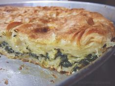 Armenian spinach and feta pie with fill pastry Armenian Recipes, Turkish Recipes, Greek Recipes, Ethnic Recipes, Armenian Food, Scottish Recipes, Spinach Pie, Spinach And Cheese, Burek Recipe