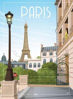"""Paris - the """"Paris Ma Belle"""" wall decoration poster Paris Poster, All Poster, Pictures Images, Vintage Pictures, Paris Metro, Tour Eiffel, France Travel, Vintage Travel, Continents"""