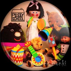 Retro Kids TV Badge/Magnet - Play School 1 ~ www.powdermonki.co.uk ~