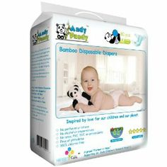 Andy Pandy Diapers - Premium Biodegradable Bamboo Disposable Diapers - Eco Friendly, Green, Safe for Baby & Environment