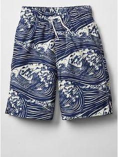5c5b2ee525 Wave swim trunks Munster Kids, Gap Kids, Mini Boden, Patterned Shorts, Print