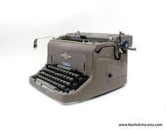 1950s Underwood 150 Typewriter Complete with Cover by Nachokitty.etsy.com $575.00 #Industrial #VintagAndMain