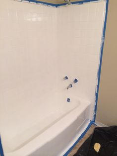 Rustoleum Countertop Paint On Bathtub : ... tub using rustoleum epoxy paint. We werent fans of the pink tub or