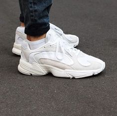 "premium selection ec5e2 d9733 everysize on Instagram ""The adidasoriginals Yung-1 arrived in all white  ⚪ • Grab a pair! Click the photo! • 📸 uebervart yungin yung1 adidas ..."