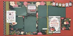 Scrapbook Designs, Scrapbook Sketches, Scrapbook Pages, Scrapbooking Ideas, Craft Kits, Diy Kits, Heart Diy, 6 Photos, Photo Craft