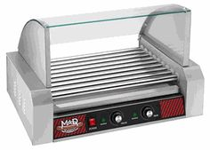 9 Roller Hot Dog Grill With Cover