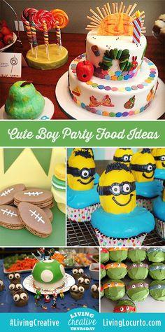 Cute food Ideas for a Boy Birthday Party! LivingLocurto.com